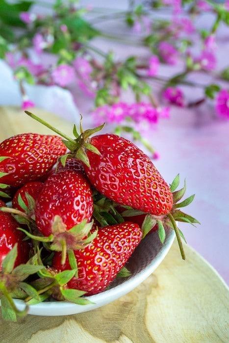 Cornets feuilletés aux fraises
