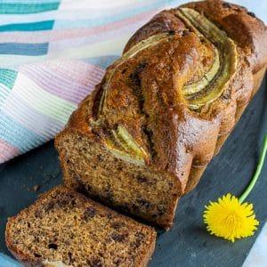 banana bread noix et chocolat