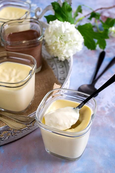 Crèmes dessert à la vanille