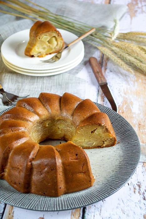 Gâteau aux pommes à la compote