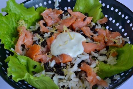 salade aux deux riz et saumon