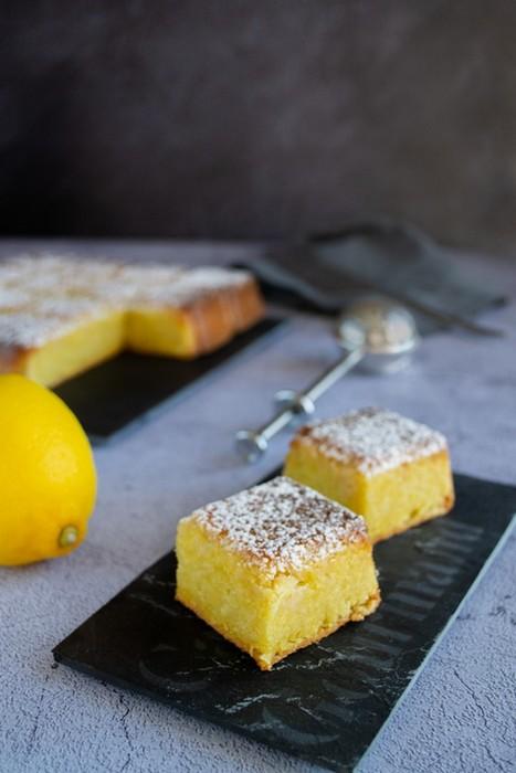 Torta caprese chocolat blanc et citron