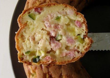 cake courgettes lardons1