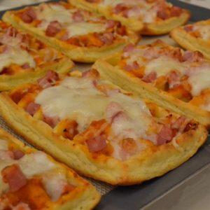 Gaufres façon pizza