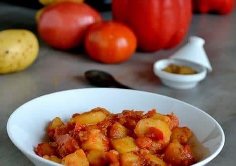 pdt aux poivrons et tomates