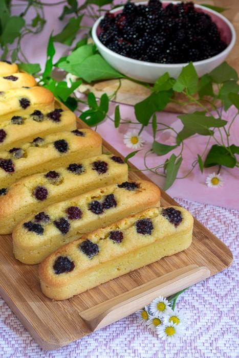petits gâteaux citron et mûres