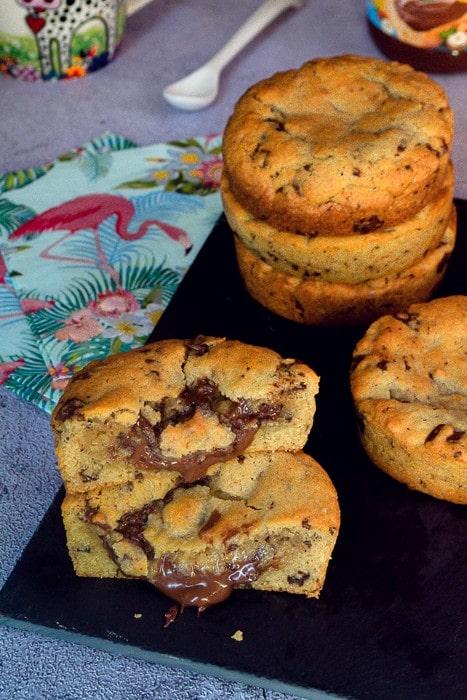 cookies géants coeur coulant