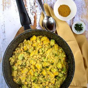curry de quinoa pois chiches courgettes