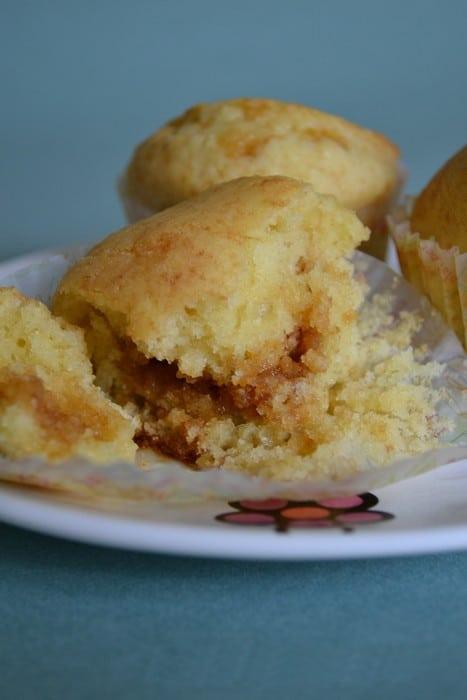 Petits muffins au coeur de caramel