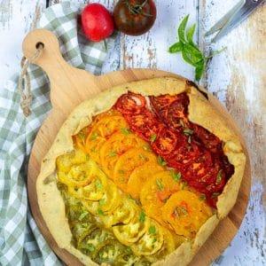 Tarte rustique tomates et thon